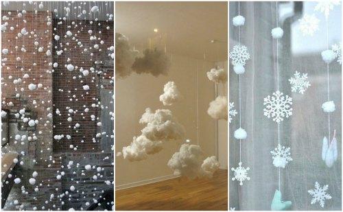 Облака и снег из ваты