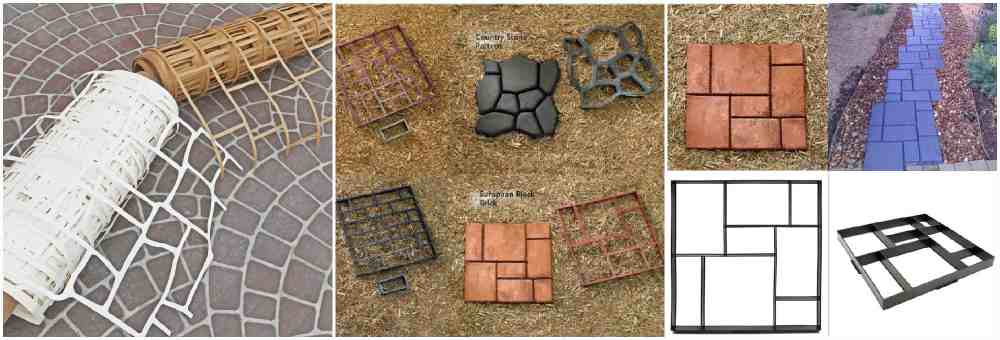 Штампы и трафареты для декорирования бетона