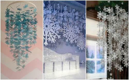 Снежинки в интерьере