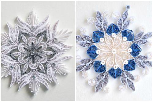Снежинка в стиле квиллинг
