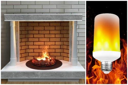 Светильники с эффектом пламени