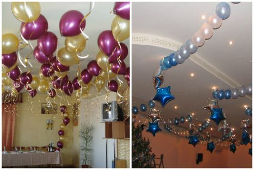 Воздушные шарики в интерьере