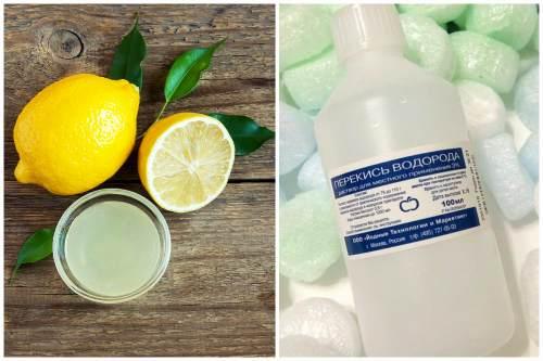 Лимонный сок и перекись