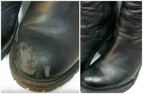 Восстановленная жидкой кожей обувь