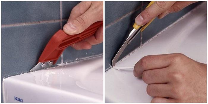 Как удалить силиконовый герметик с акриловой ванны