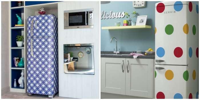 Декор холодильника плёнкой