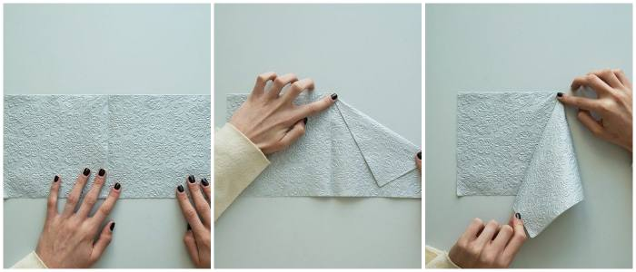Как красиво сложить тканевую салфетку