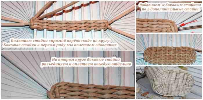 Плетение дна пошагово