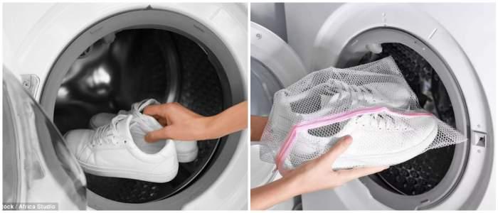 Как постирать белые кроссовки в стиральной машине