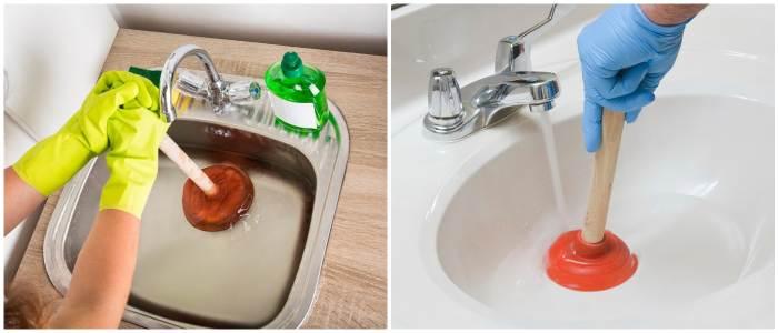Как прочистить сильный засор вантузом
