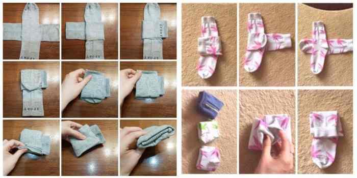 Как сложить носки компактно