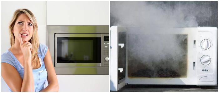 Причины появления запаха в микроволновке